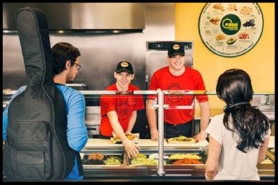 The Team at Moe's Southwest Grill in Action