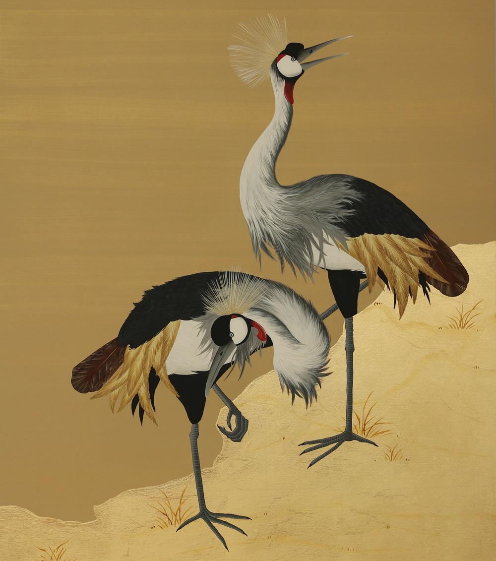 Cranes - Wood Panel