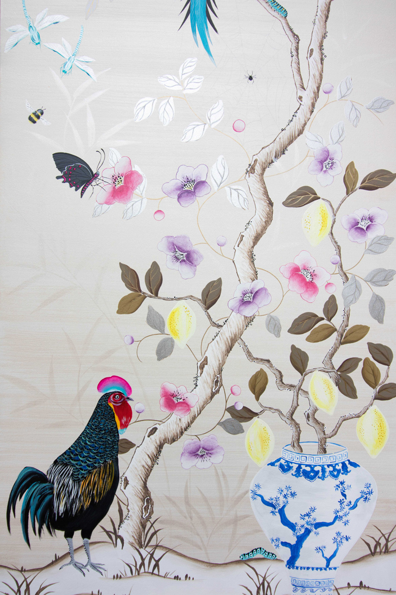 Chinoiserie - Wood Panel