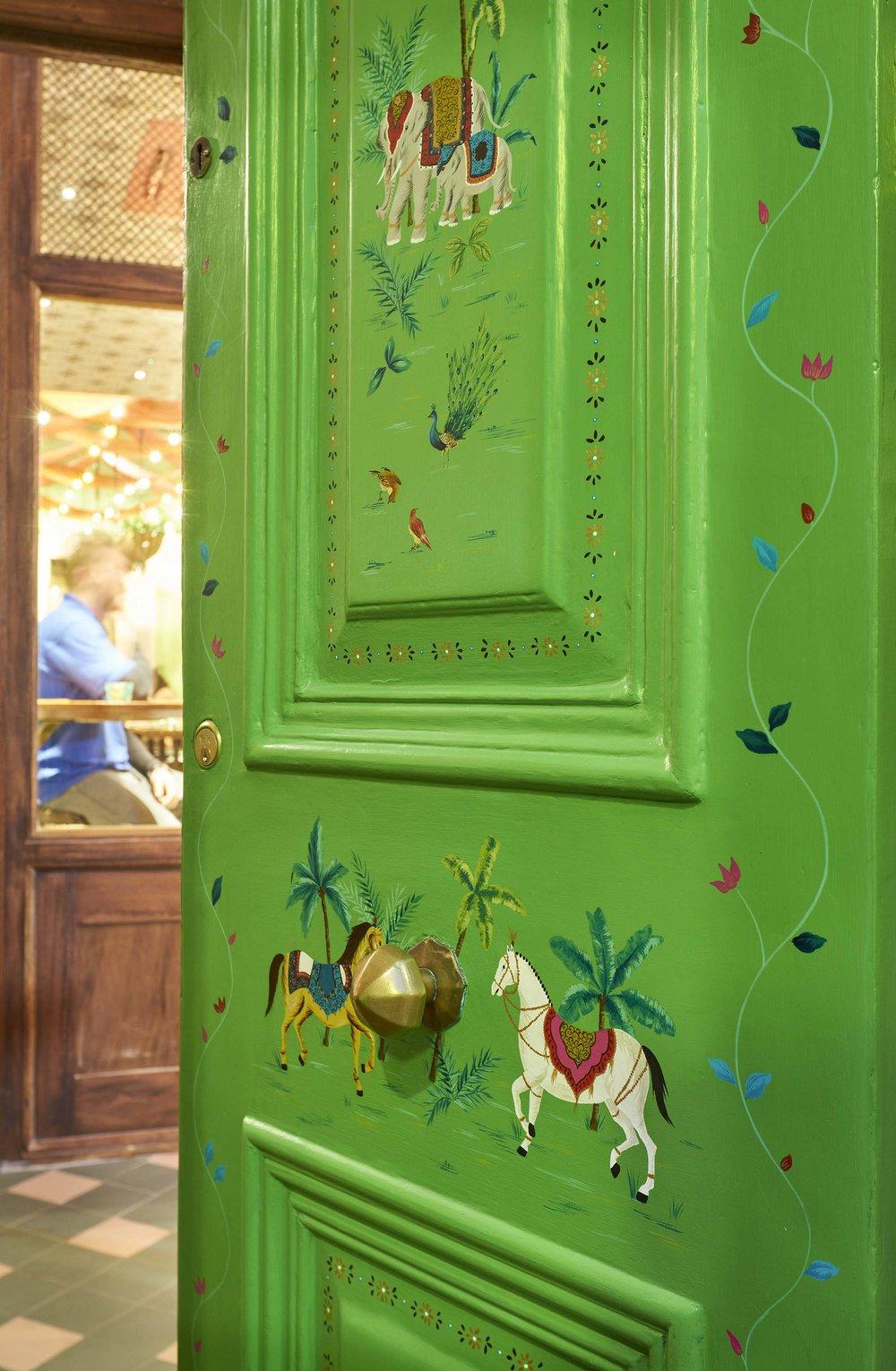 Entrance door detail.