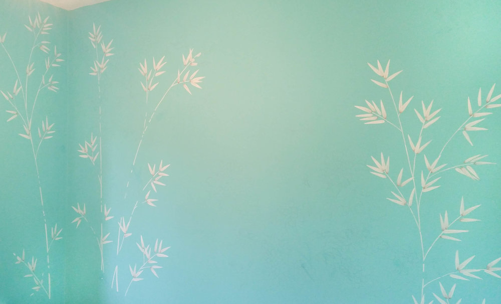 Diane Hill painting background bamboo chinoiserie design