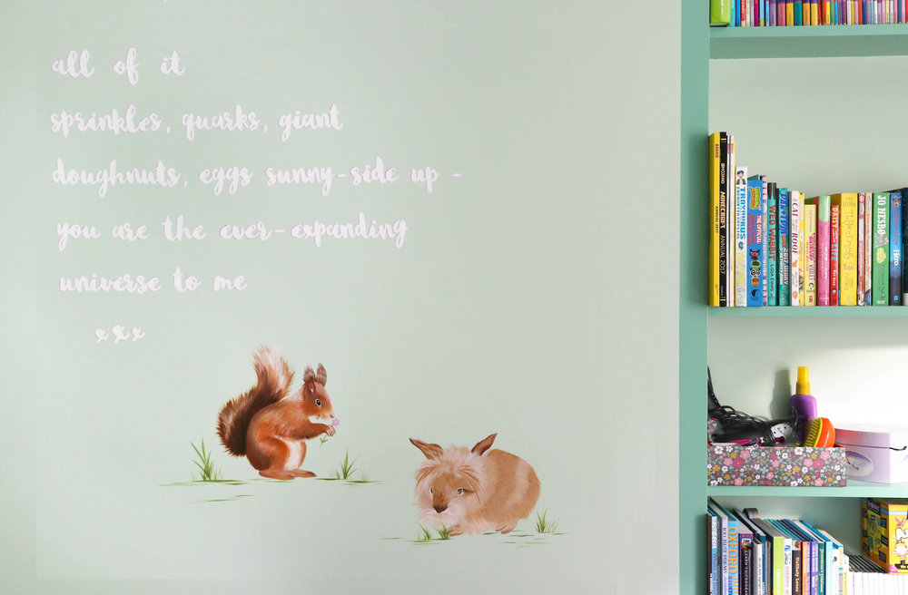 Poetry Mural Children's bedroom
