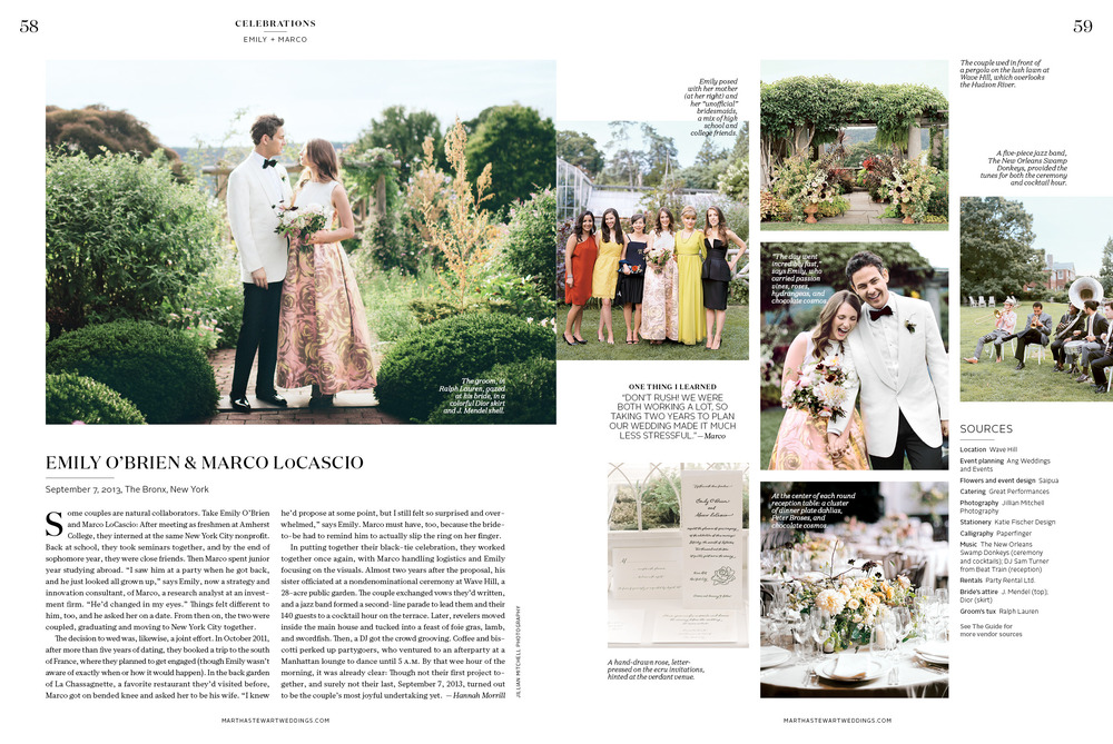 Martha Stewart Weddings: A Fashionable Garden Party Style Wedding in New York City