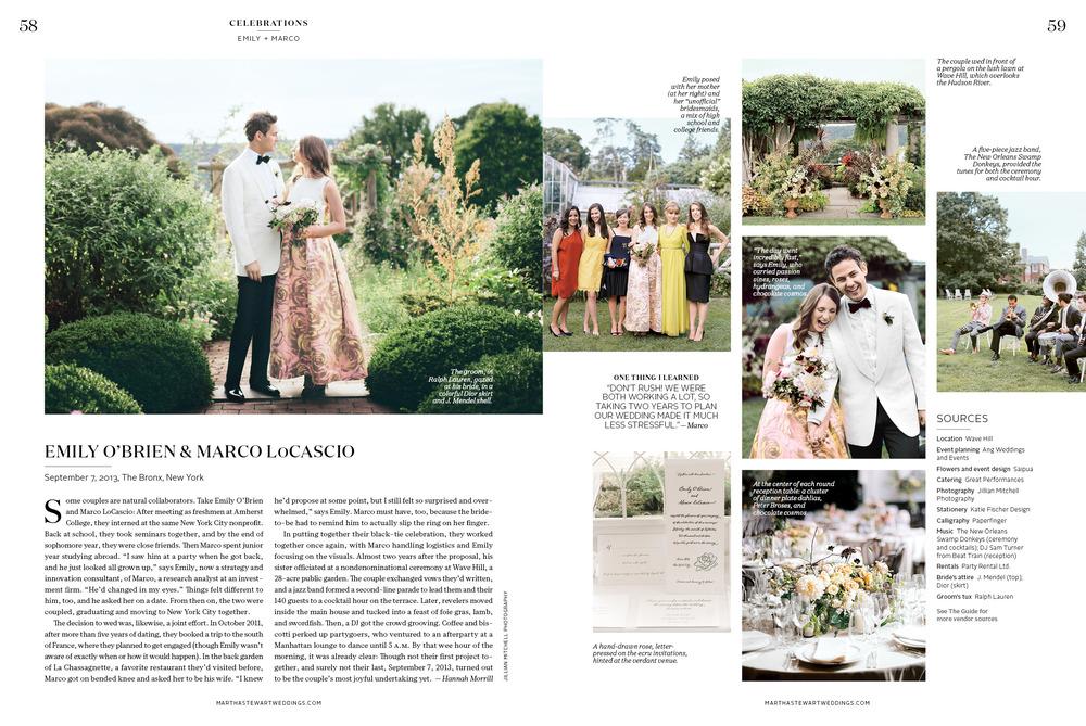 Martha Stewart Weddings: A Fashionable Garden Party Style Wedding in New York City