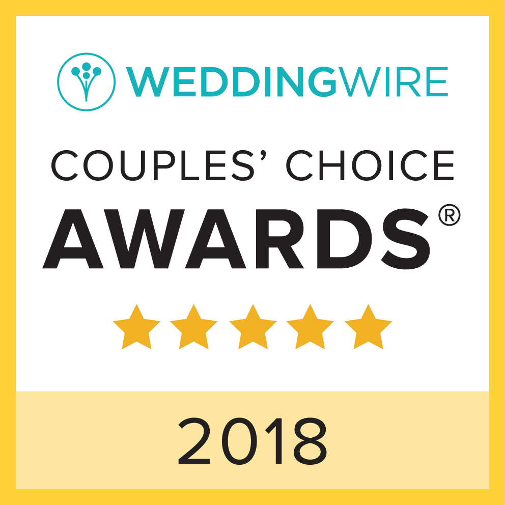 Congratulations to this year's winners! The WeddingWire Couples' Choice Awards® recognize the top five percent of local wedding professionals on WeddingWire who demonstrate excellence in quality, service, responsiveness, and professionalism. Winners are determined by reviews from over a million WeddingWire newlyweds.