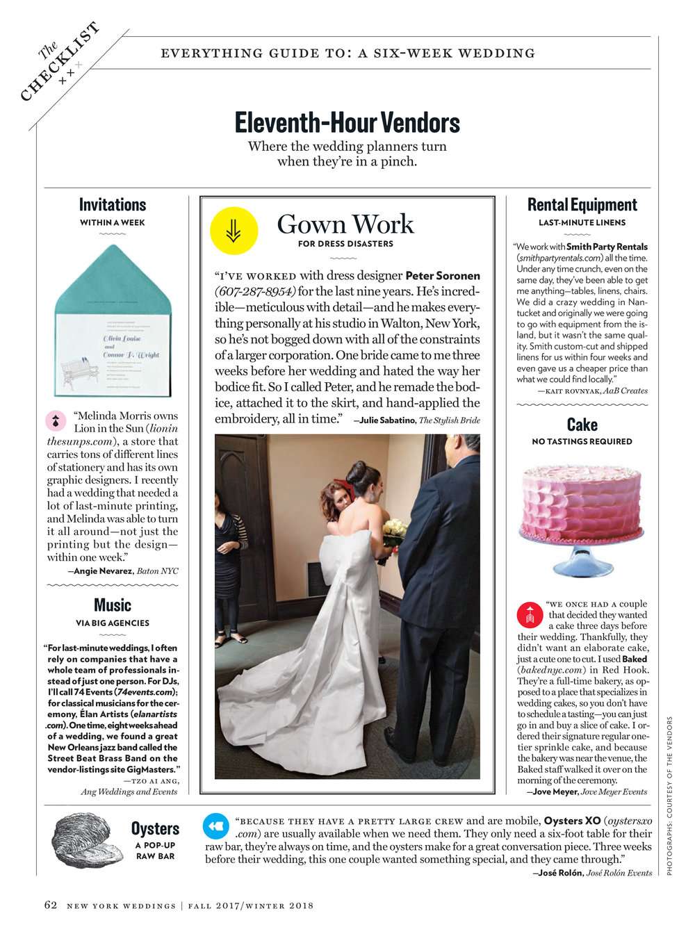 New York Magazine Weddings 2018: How To Plan A Wedding In 6 Weeks