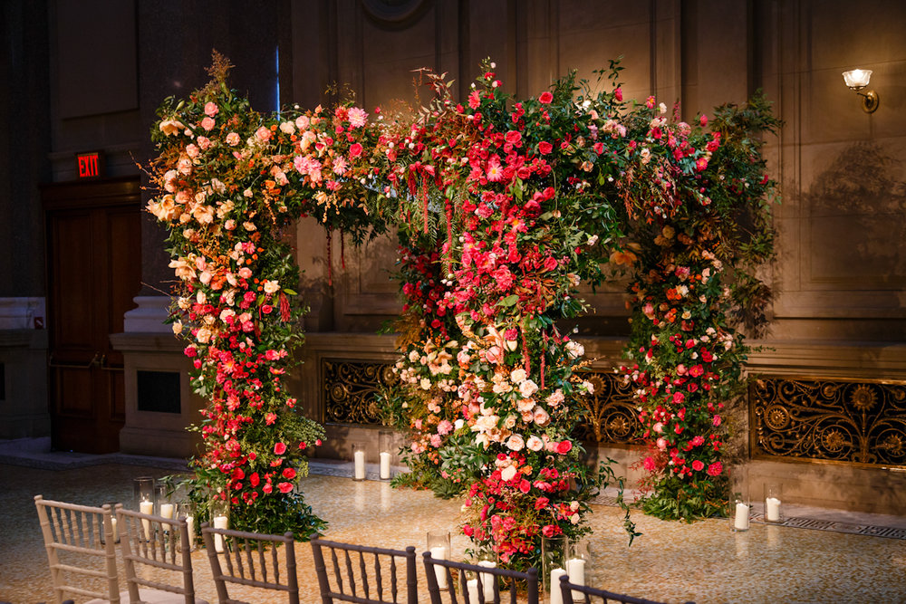Weylin Wedding: Colorful chuppah by Putnam and Putnam
