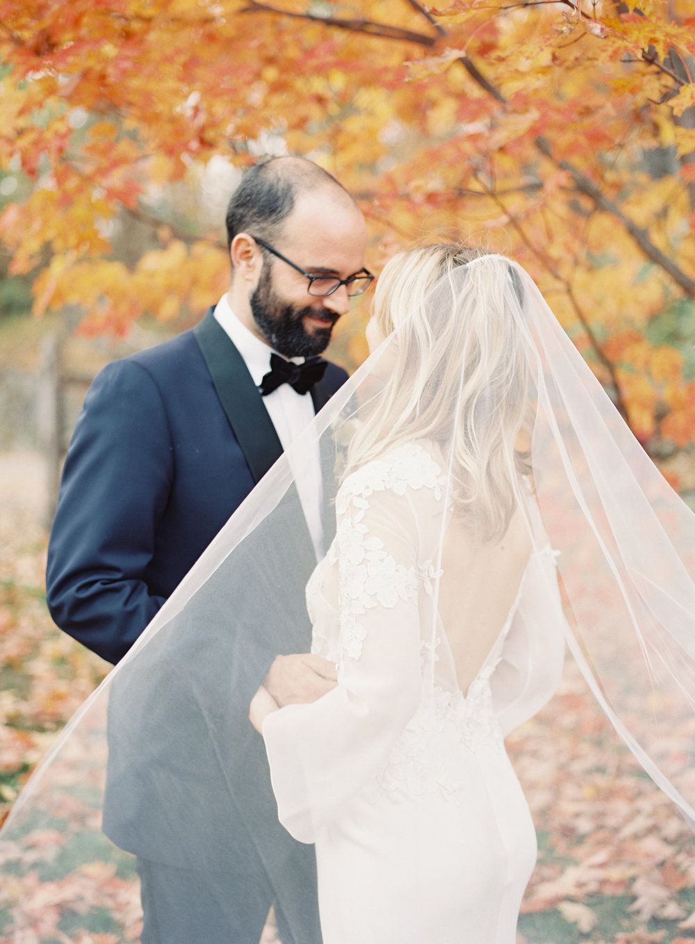 Blue Hill at Stone Barns wedding, event planner Ang Weddings and Events, photography Judy Pak, bride and groom