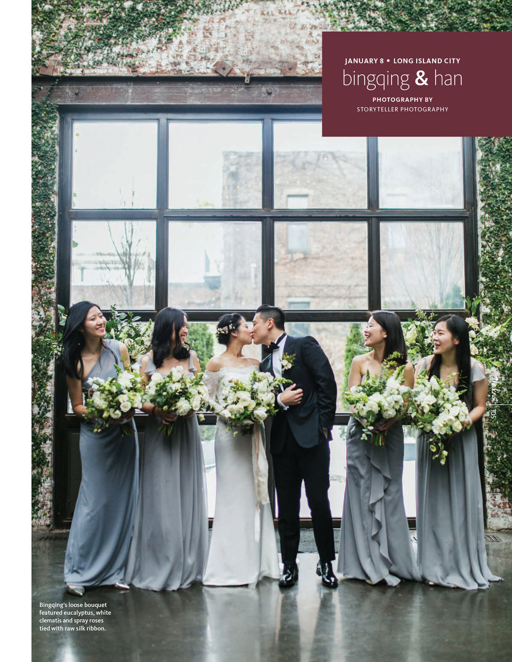 The Knot New York 2018 Fall/Winter: Bingqing and Han's Foundry Wedding