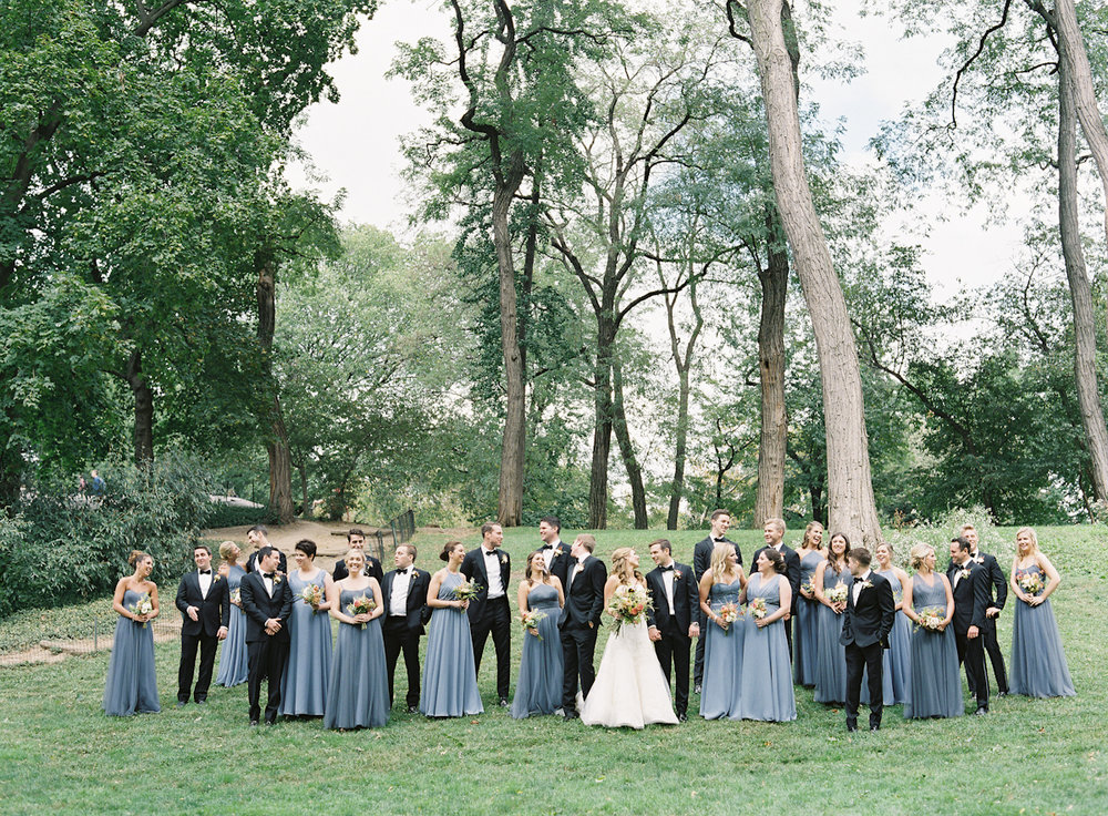 Bridesmaids and groomsmen at a Plaza wedding
