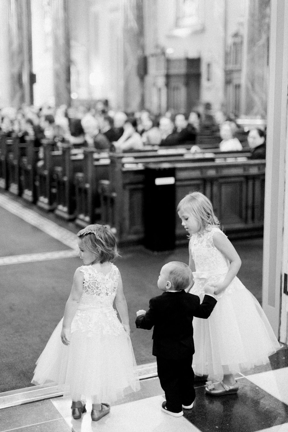Flower girls and ring bearer at St Jean Baptiste