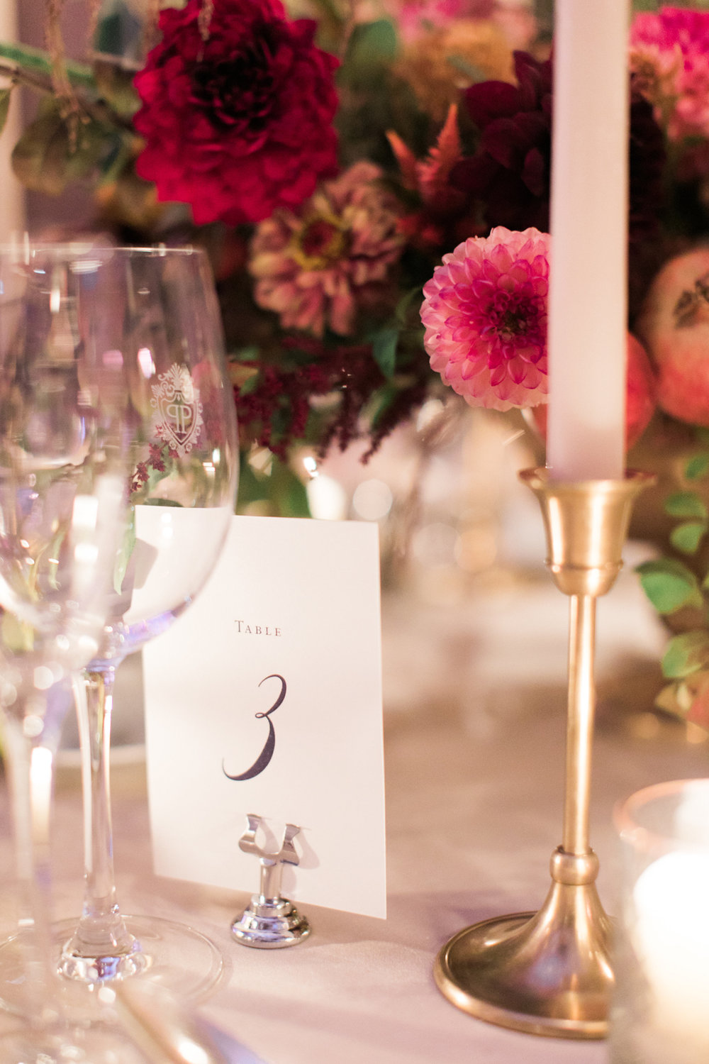Plaza wedding table numbers