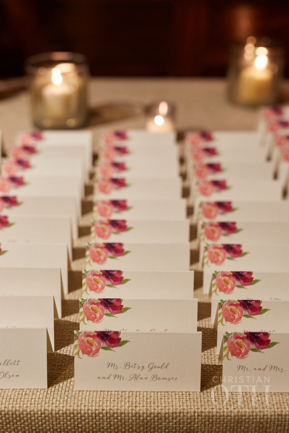 Weylin wedding, Ang Weddings and Events, Christian Oth Studios, Poppies and Posies, Katie Fischer Design escort cards