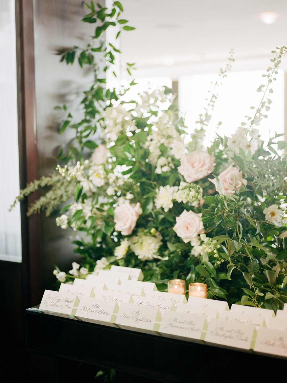 Rainbow Room Wedding, planner Ang Weddings and Events, photography Heather Waraksa, florals Poppies and Posies, calligraphy Mary Ellen