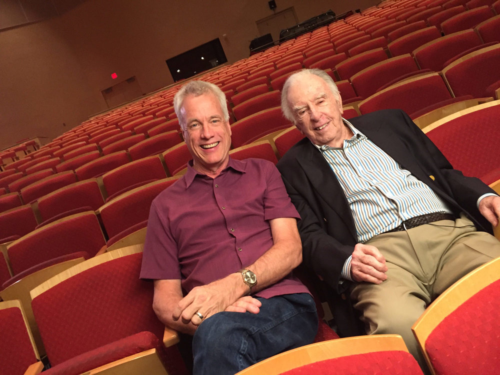 Craig Bohmler with his mentor, composer Carlisle Floyd