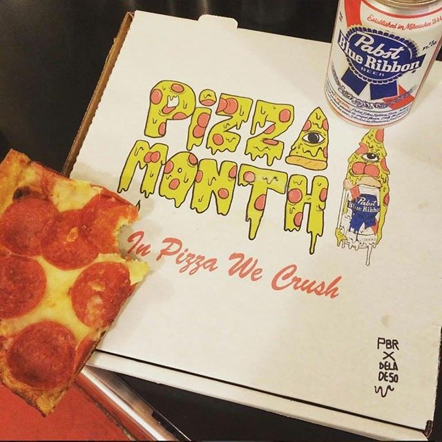 Final Day! @pabstblueribbon & #pizza month!