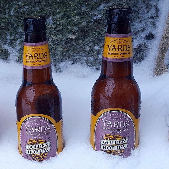 Now Available! Yards Brewing Co. Golden Hop IPA This light-bodied IPA soars with the tropical notes of tangerine, mango and grapefruit from Mosaic and Amarillo hops and bright floral and citrus undertones from Cascade in the hopback.
