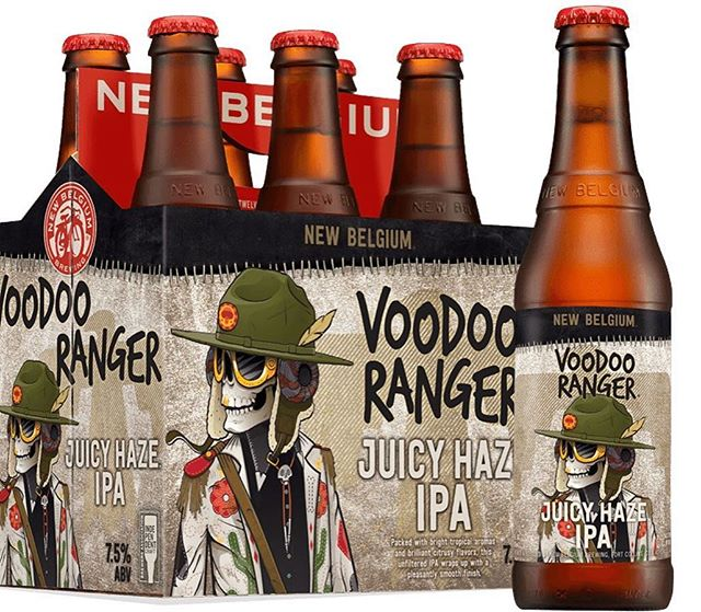 Introducing... New Belgium Brewing Voodoo Ranger Juicy Haze IPA!  Packed with bright tropical aromas and brilliant citrusy flavors, this unfiltered IPA wraps up with a pleasantly smooth finish.