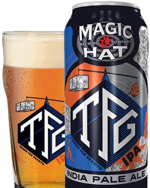 Introducing Magic Hat Brewing Company TFG!  Crisp with a smooth malt backing, TFG is a balanced ipa with notes of grapefruit and orange that will mine your every taste bud.  Brewed with Pale, Victory, Oats, Cara malt, and Carapils Malts, Magnum, Nugget, Simcoe, Amarillo, and Cascade Hops, London III Yeast.