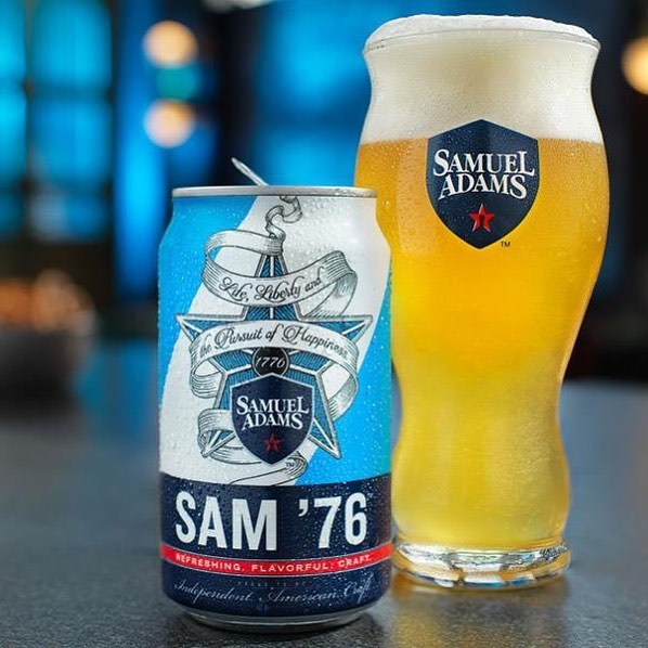 Sam '76 is a revolutionary new beer, by Samuel Adams, that is an unmatched combination of refreshment, craft flavor, and aroma. By experimenting with both lager and ale yeast strains, our brewers developed a unique brewing process that takes two active fermentations and blends them together to create a deliciously harmonious result. This process delivers a distinct flavor that showcases the slight fruitiness of an ale with the balanced drinkability and smoothness of a lager. So whether you're tailgating, watching the game, or headed to a party with friends, Sam '76 can be your go-to beer.