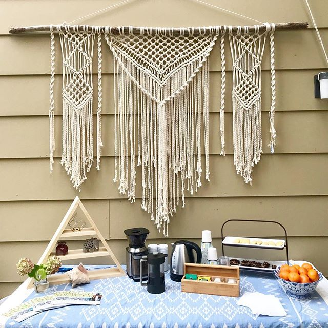 I'm so happy this piece has ✨SOLD✨ this afternoon and will be heading to it's new home after the tour wraps up this Sunday 👏 .  Thank you @omtigerlily . . . . #newhome #sold #reddot #modernmacrame #bohemianvibes #bohemianstyle #macramelove #macramewallhanging #macramé #PlacerArtistsStudiosTour #placercounty #visitplacer #granitebayca #artstudio #openstudio @theacpc #theacpc