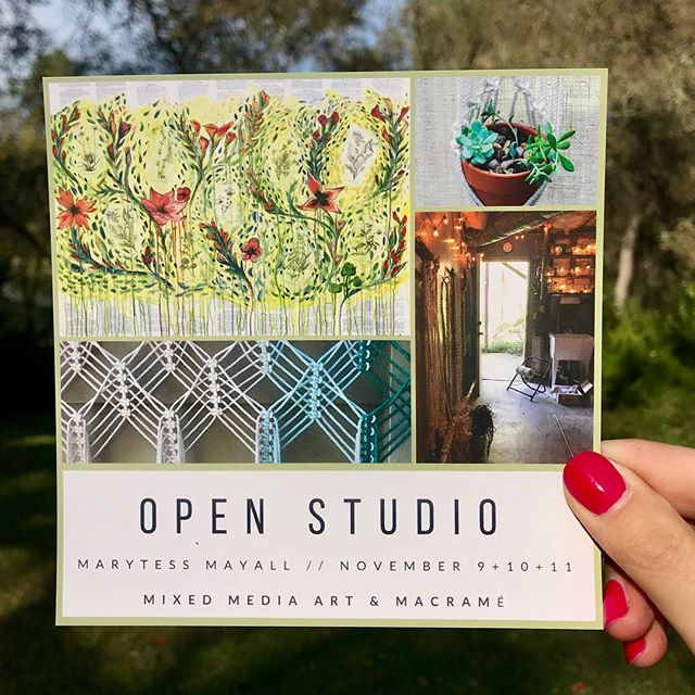 Happy Friday! 🌿 Today is the first day of the #PlacerArtistsStudiosTour and I'm so excited to be one of the many artists opening up my studio today, tomorrow and Sunday from 10-5pm 🎨  Where are you planning to stop on this years tour? . . . . . #comevisit #theacpc @theacpc #placercounty #visitplacer #placerlife #granitebayca #artstudio #openstudio #artofthedaysac #macramelove #modernmacrame #mixedmediaartist #macrameartist  #placercountyartist #macrameallday