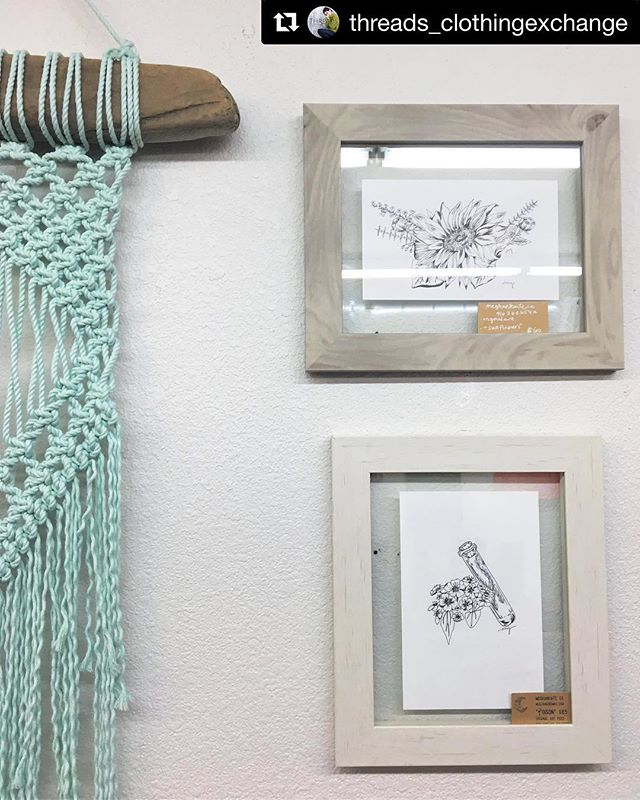 I'm so happy to have some of my macramé designs on display at my favorite clothing store!  Be sure to go check them out for some great styles ✨  #Repost from @threads_clothingexchange ・・・ Every time I look up at our walls I do a little dance • absolutely in love with the talented art + creations of @meghankaiteco + @marytess.artist ✨ Art + Macramé for sale ✨ . . . . . #macrame #macramelove #rosevilleca #godowntownroseville #placercounty #visitplacer #placerlife #modernmacrame #macrameart #macrameartist #threadsclothingexchange #bohemianstyle #bohostyle