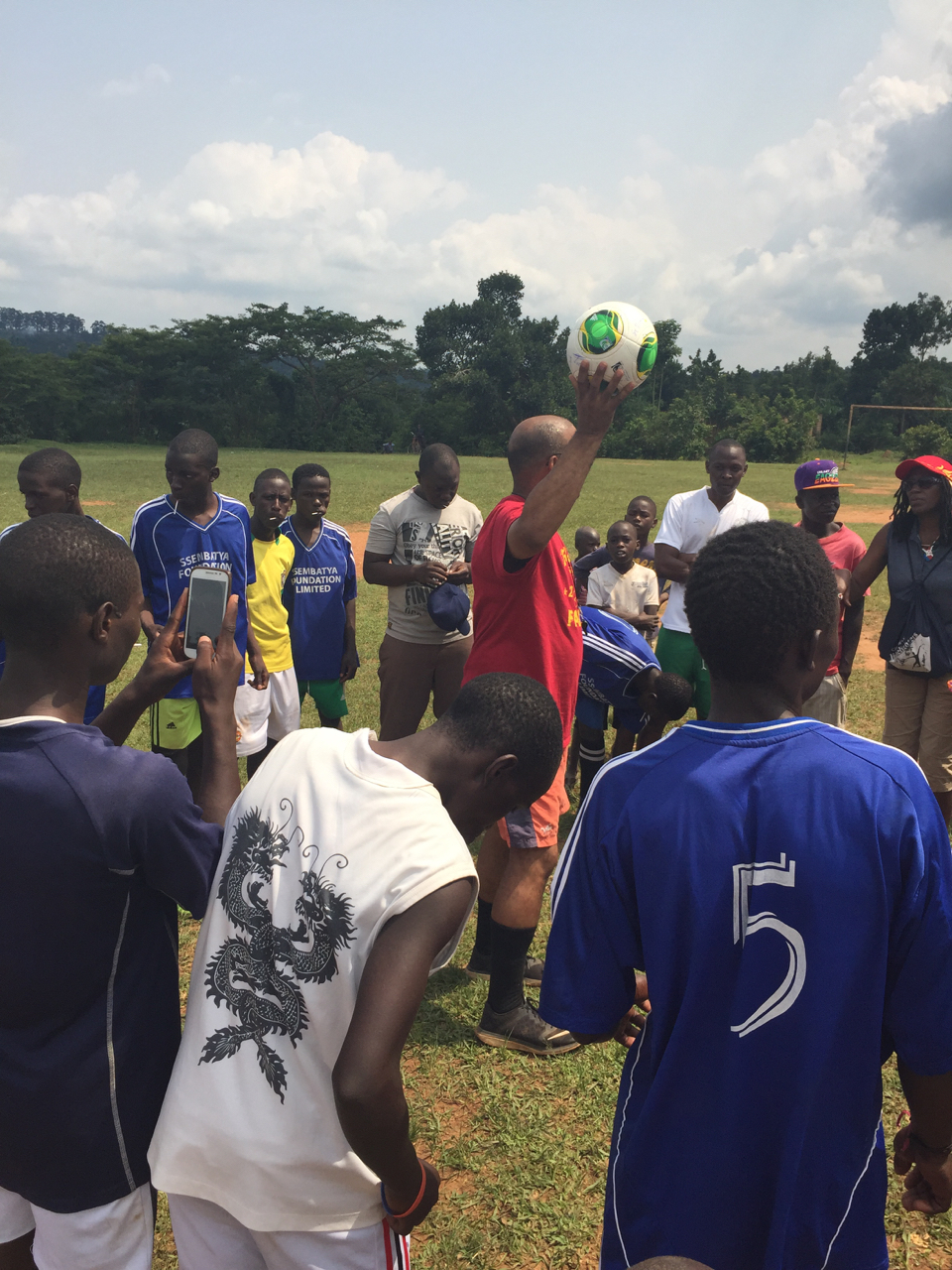 Pre-game instructions from Makinto—Team Rangers from Uganda vs. Team Joyful!