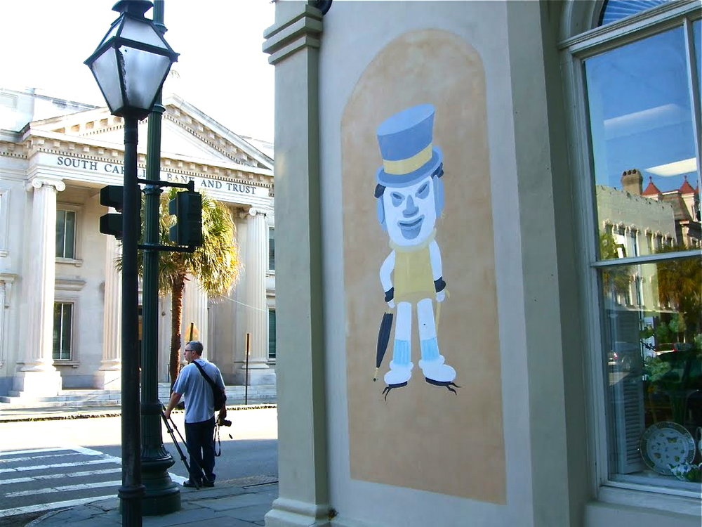 The Charleston Hat Man at Church and Broad Streets. image: Panoramio