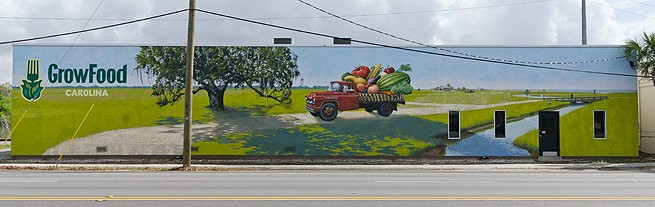 Mural by David Boatwright at GrowFood on Morrison Dr. image: The City Paper