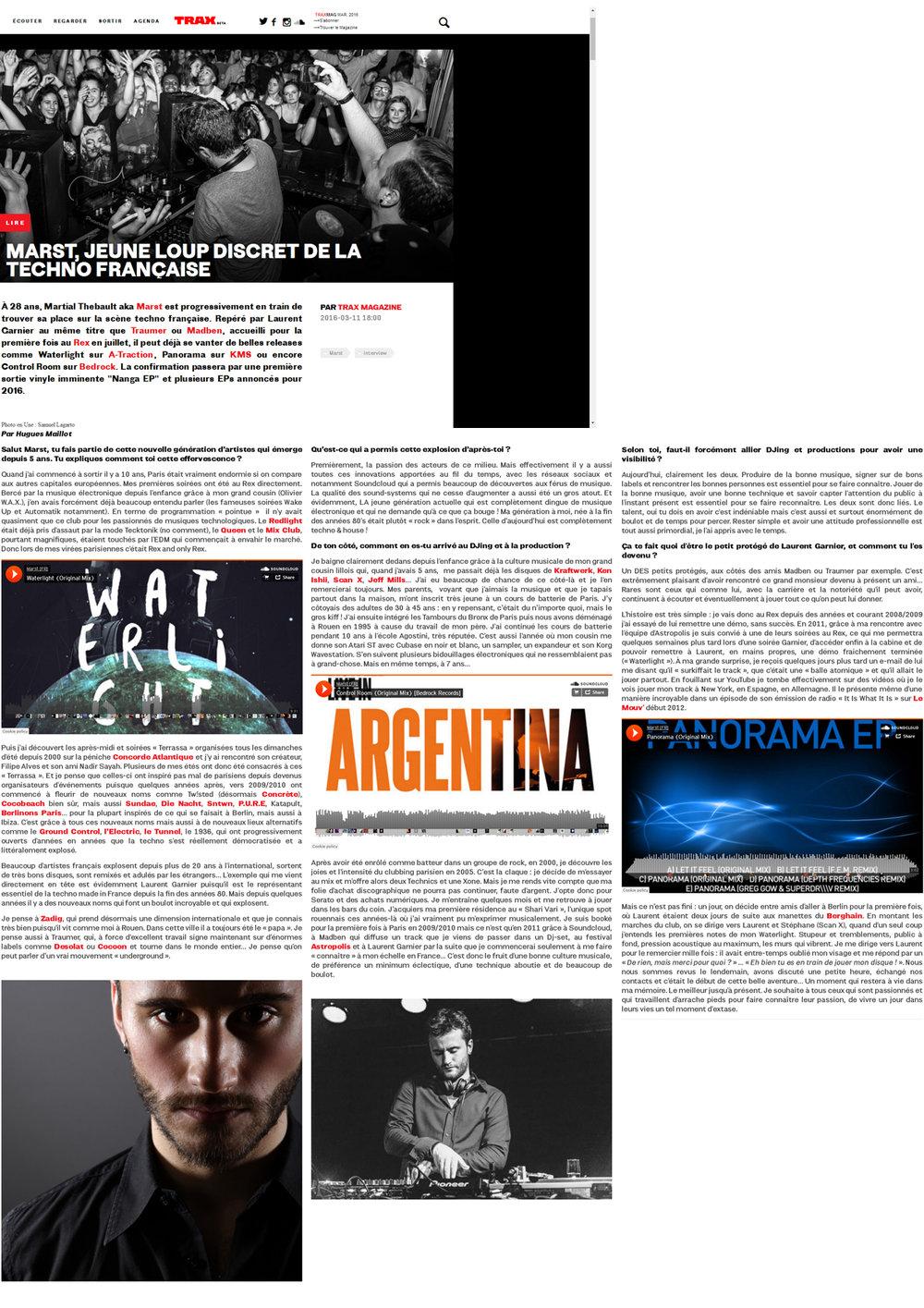 Trax Magazine - FR - March 2016