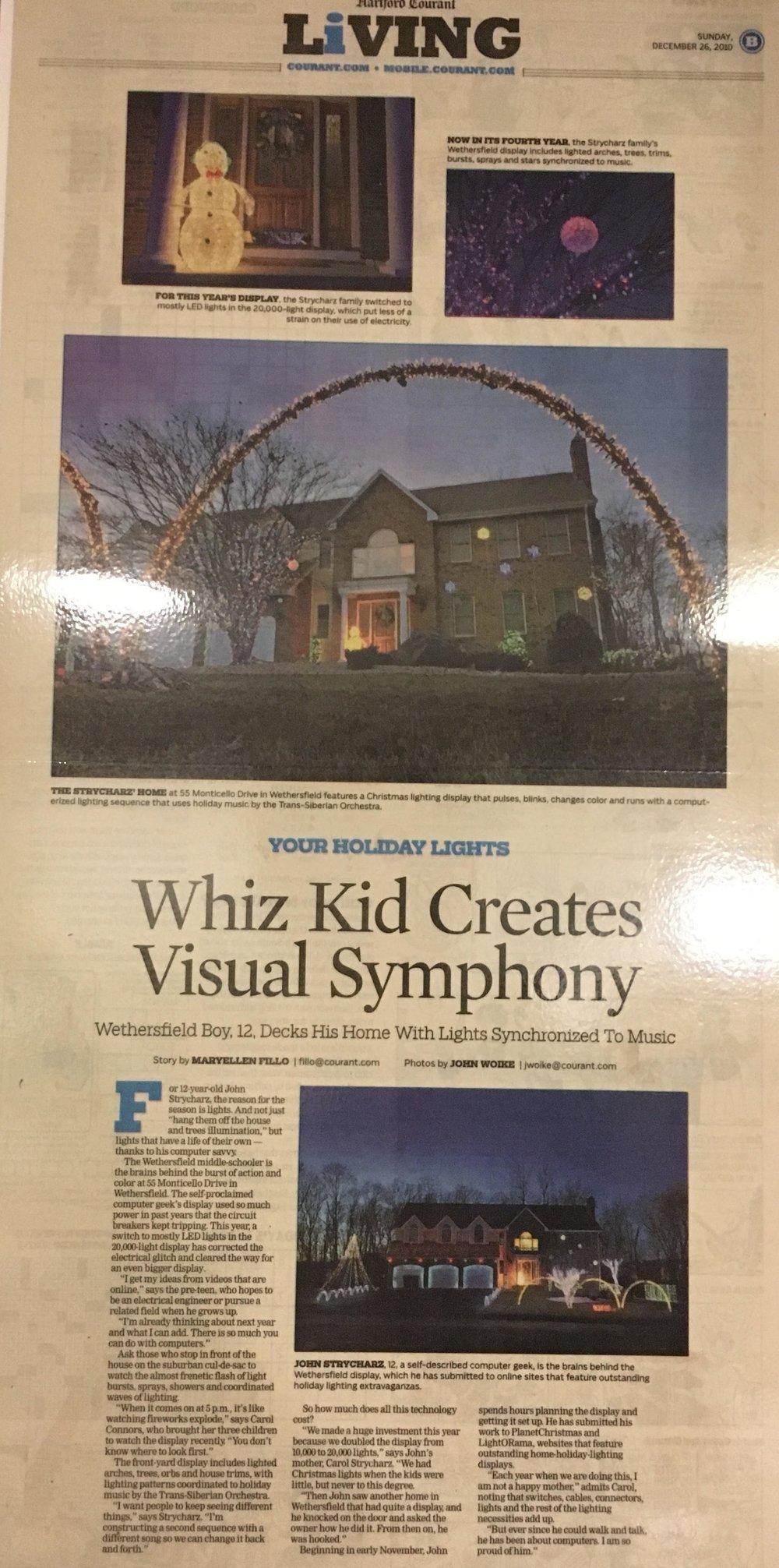 Christmas Display - Hartford Courant - 2010