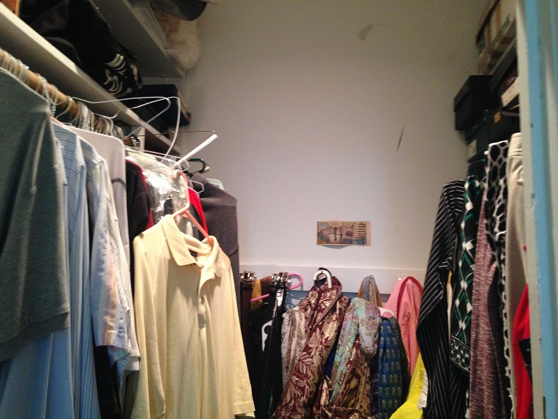 Walk-in closet - center BEFORE