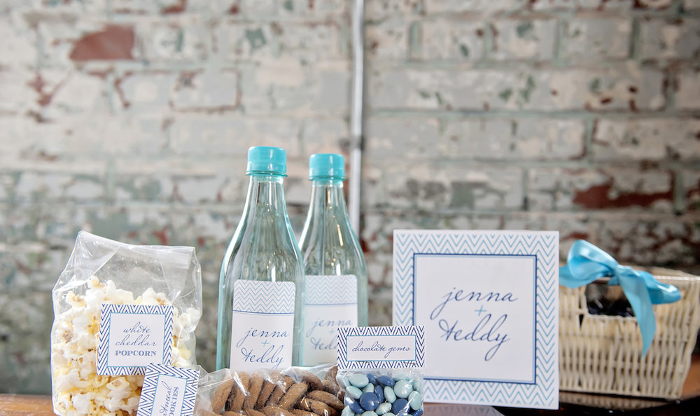 FSWL Wedding Welcome Gifts - Aqua and Blue