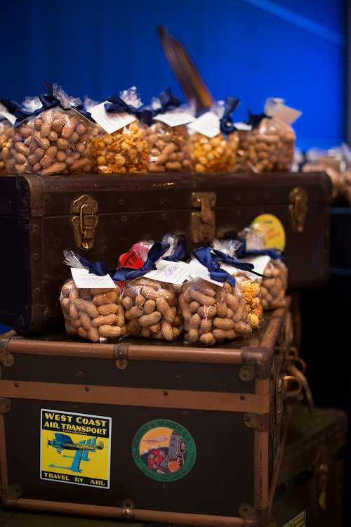 Peanuts + Popcorn Wedding Favors