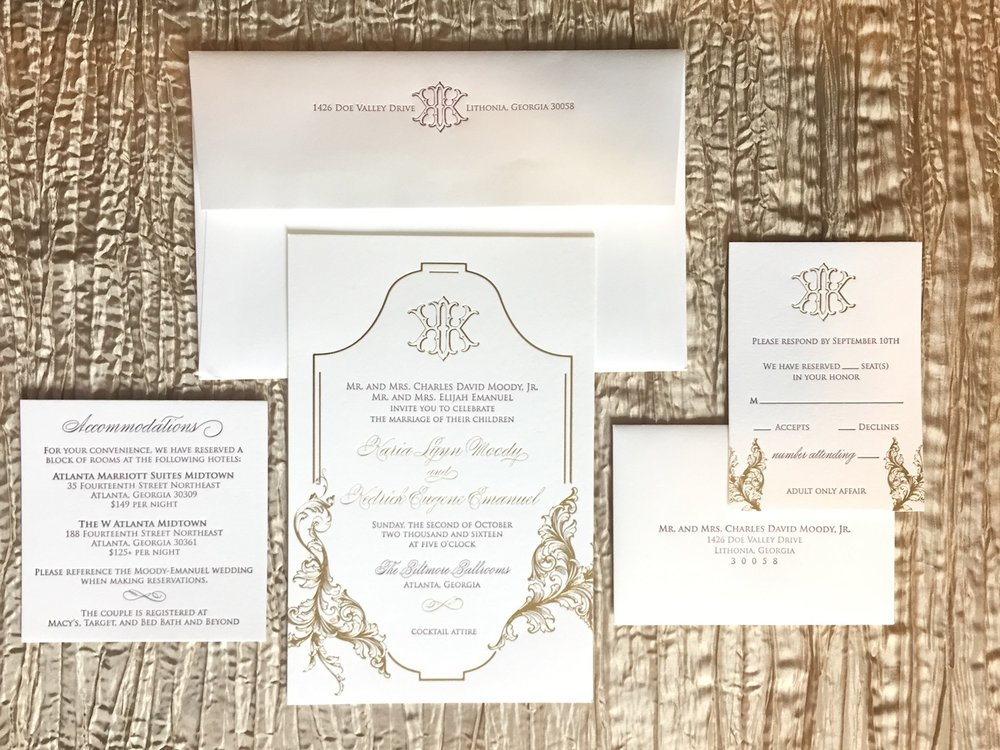 Gold and Wine Letterpress Invitation.jpeg