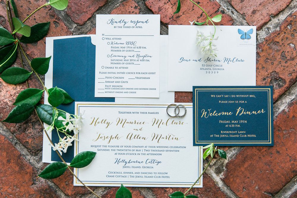 Gold and Navy Invitation Suite_Jekyll Island.jpg
