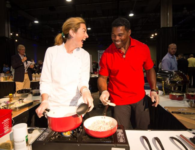 Herschel Walker and Katzie at FARE 2014