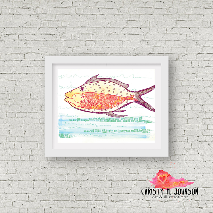 Mockup_ StillnessAtTheHeightOfTheJump_Fish_Watercolor_Ink_Lines_11x14 .jpg