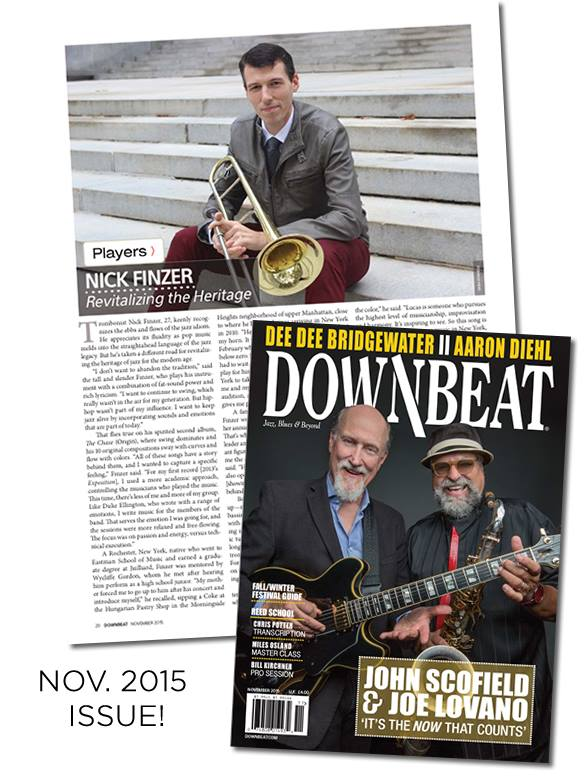 Read Nick's DOWNBEAT Player's Feature!