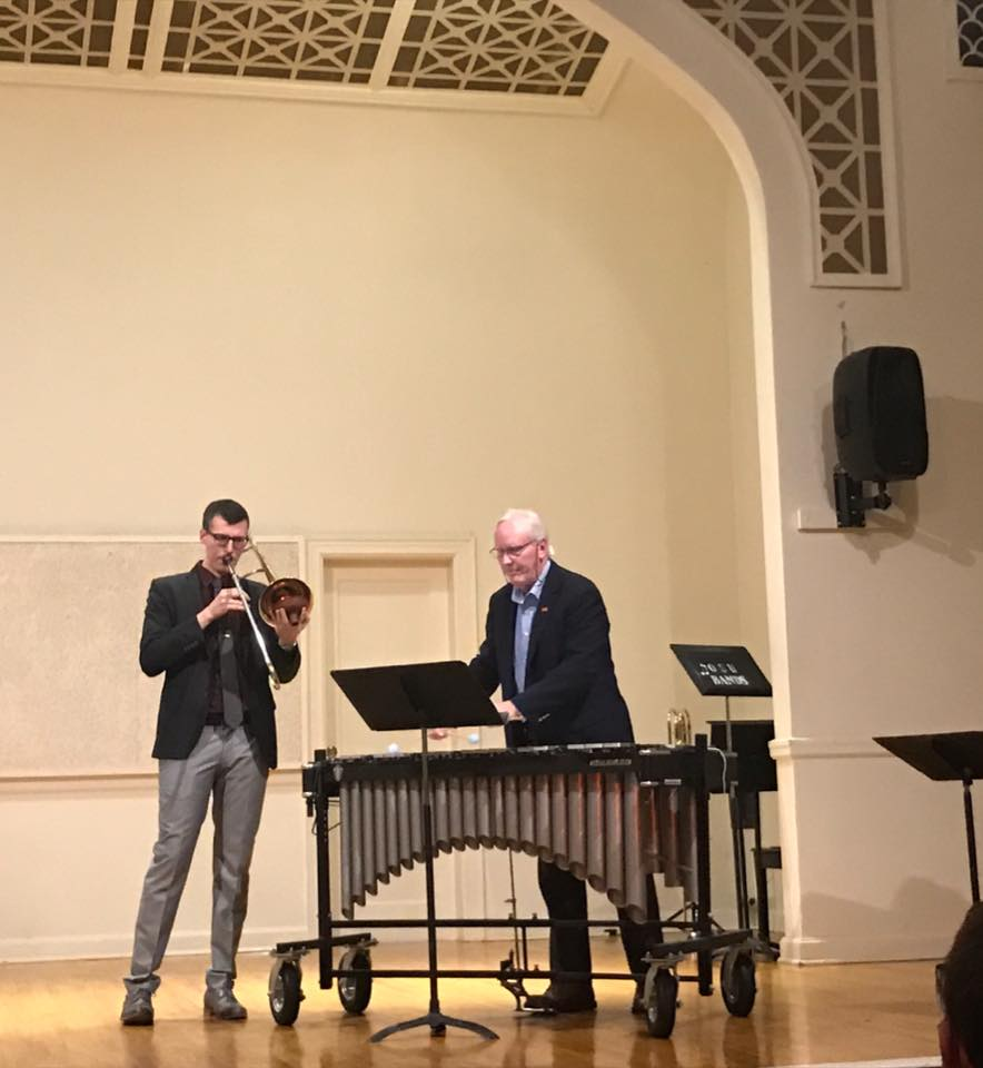 "Performing my tune ""While You're Gone"" with Dr. Potter"