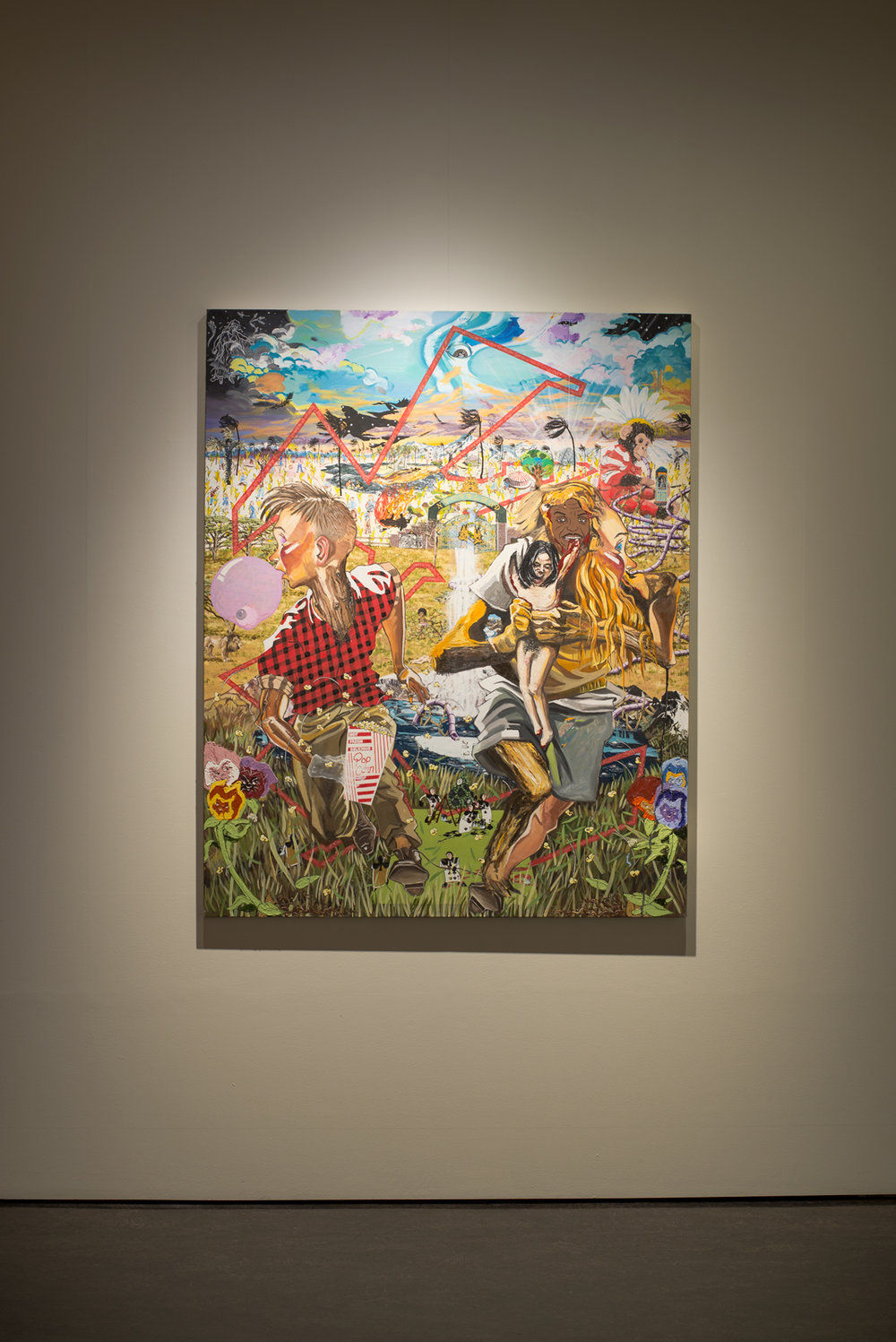 Fergus Binns, Toy Painting (Alice in Neverland), 2010. Image: Aaron Christopher Rees.