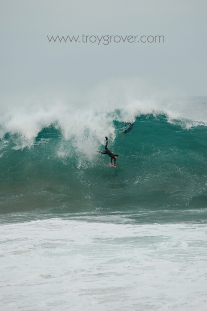 Catching the surf at the wedge