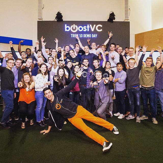 #tbt to Boost VC Tribe 10 Demo Day! Cheers to these awesome teams making #scifi a reality ✨