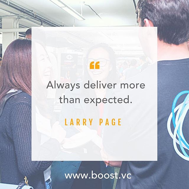 "Go above and beyond! ""Always deliver more than expected."" -- Larry Page #MotivationalMonday #workhard #grind #determination #inspire #startup #womenintech #business #founder #virtualreality #blockchain #bitcoin"