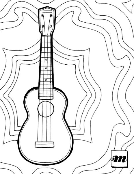 free printable ukulele coloring page musical mama