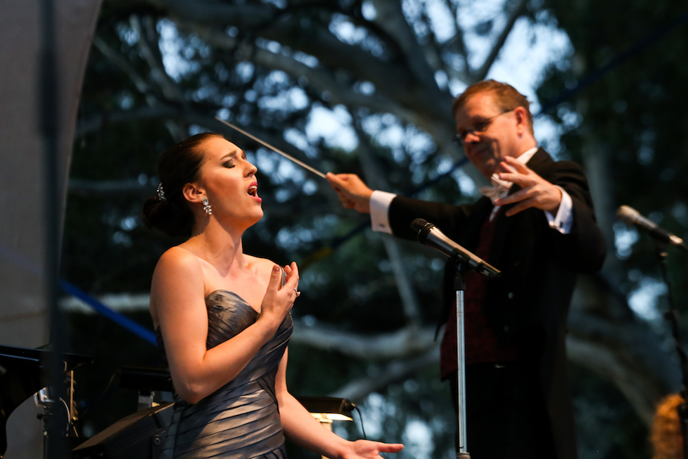 Opera in the Alps 2016 as an Opera Scholar of the Year Finalist. Photo by The Border Mail.