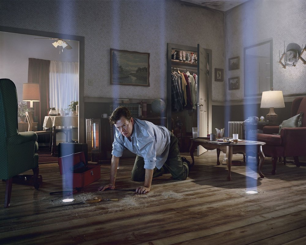 Dylan Baker in a photograph from  Dream House,  by Gregory Crewdson