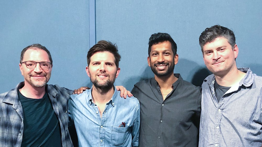 Josh, Adam Scott, Hrishi and Michael Schur
