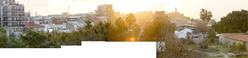 Yafo, 2017, photo-collage, inkjet print, 73x300 cm